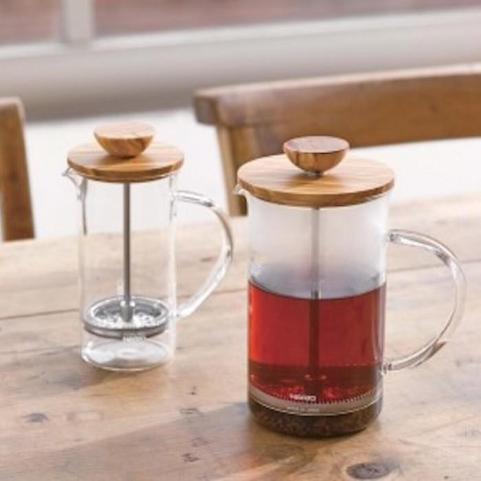 Hario Olive Wood Tea Press 250ml