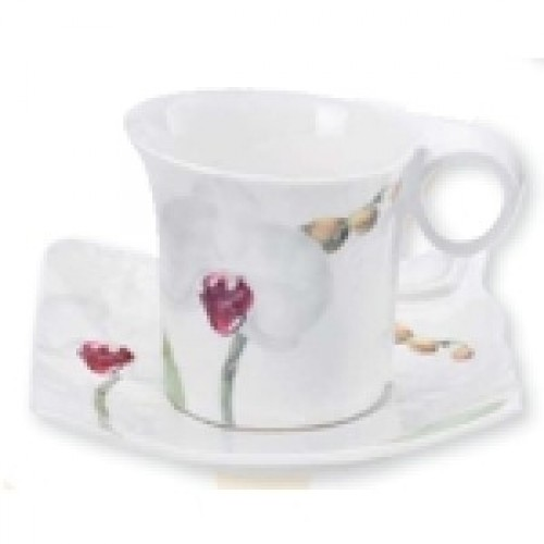 Cup with saucer - Orchid